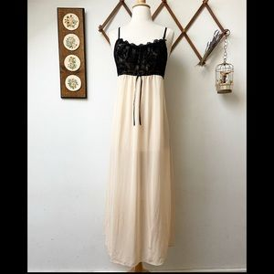 Whimsical Velvet Bodice Nightgown